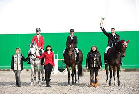 "The Final of the equestrian show-jumping competition  ""Flying Horse Cup"""