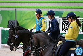 Ukrainian Dressage team for Europian Championship 2015 Aachen